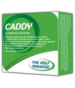 CADDY - Integratore alimentare di lattoalbumina arricchita in amminoacidi essenziali con zucchero, MCT e fibre, utile in caso di aumentato fabbisogno o diminuito apporto con la dieta di questi nutrienti.